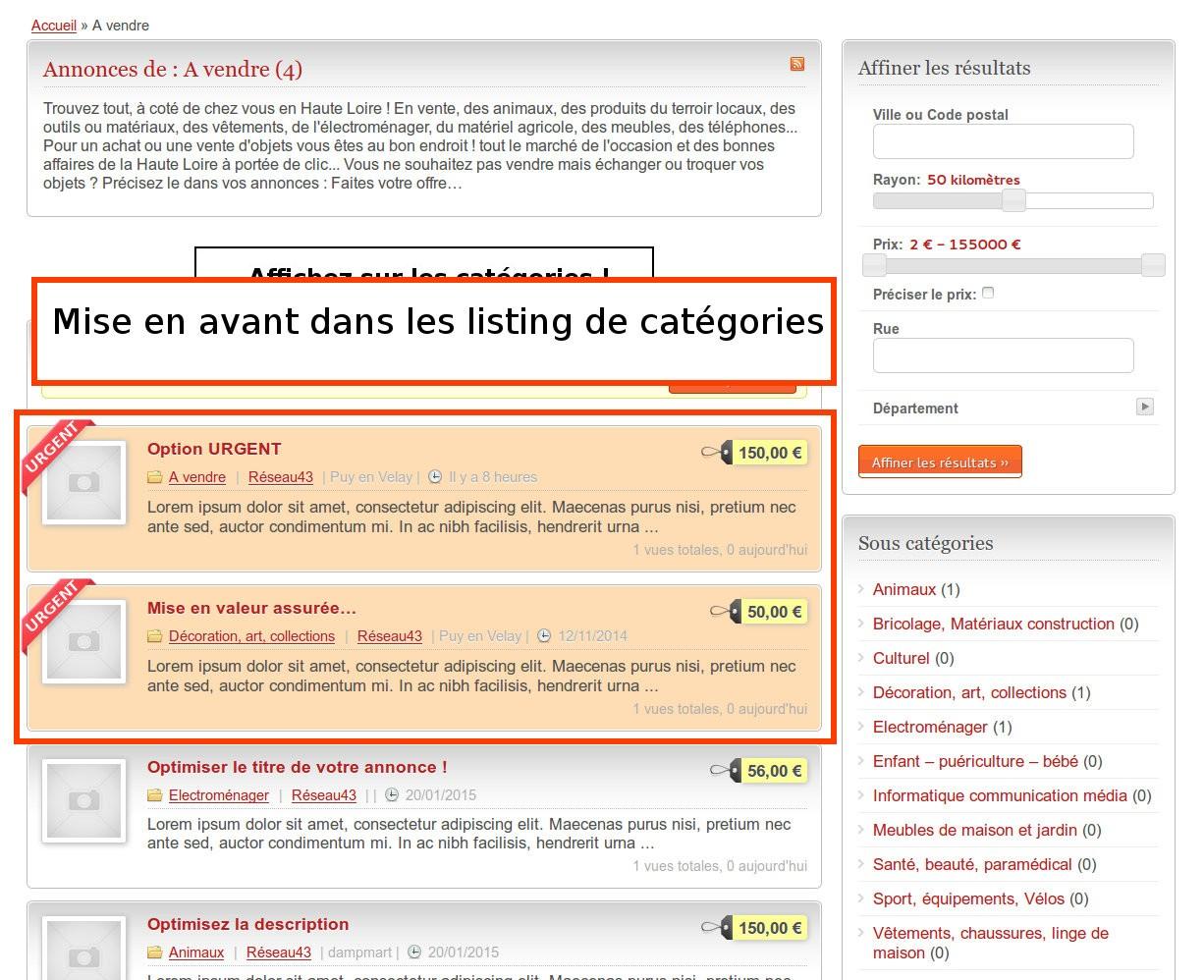 Petites annonces en Haute Loire URGENT-categories