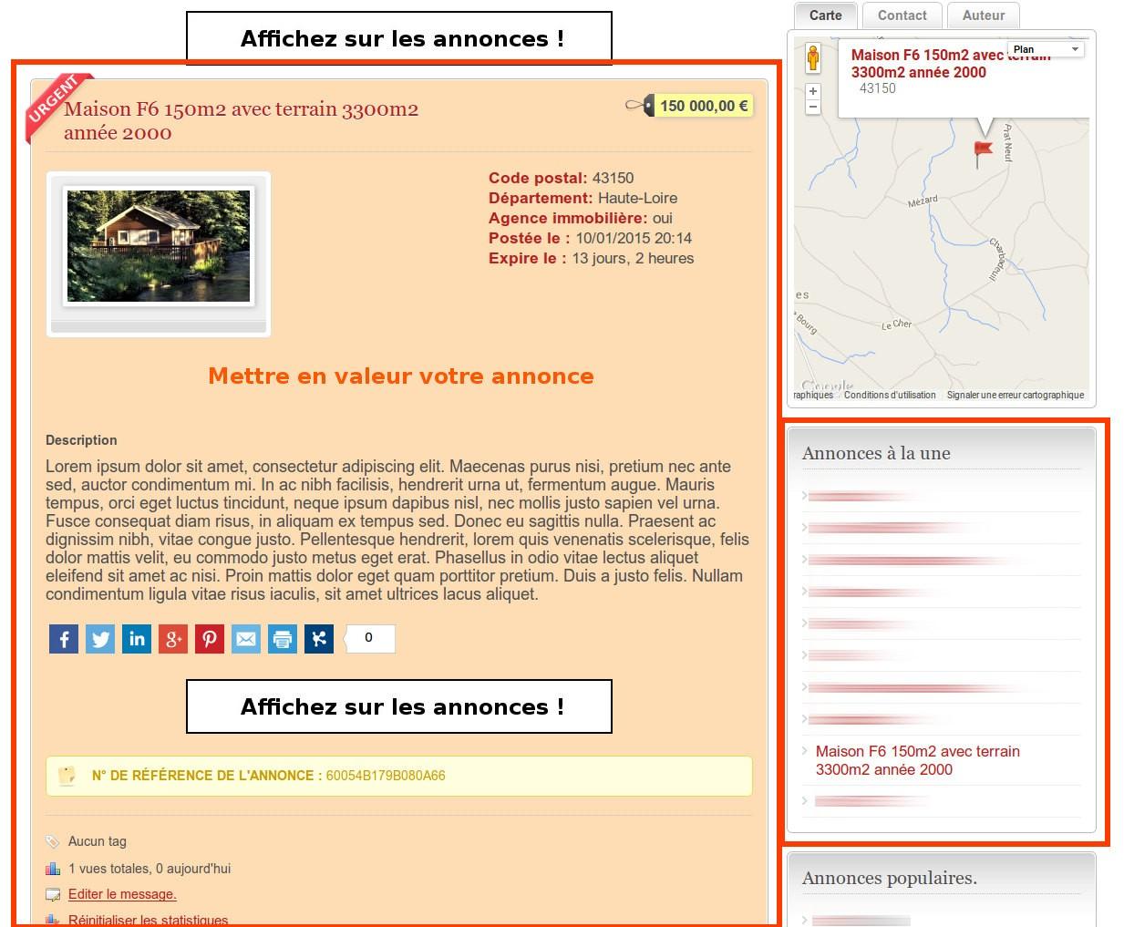 Petites annonces en Haute Loire Urgent-Annonce